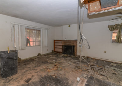 Fireplace room before